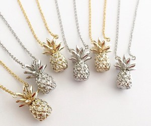 pineapple, accessories, and gold image