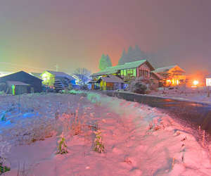 snow, glow, and photography image
