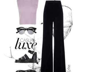 black, pants, and pink image