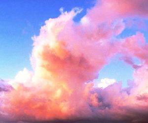 girl, beautiful, and clouds image
