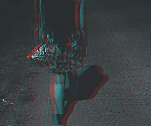 alone, dark, and girl image