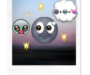 alien, amour, and moon image