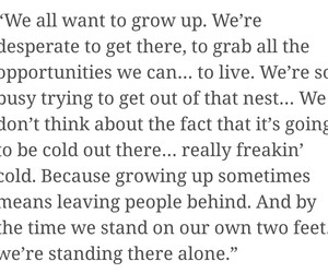 alone, grow up, and quotes image