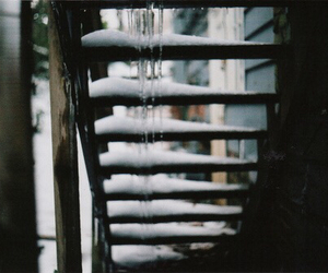 snow, stairs, and winter image