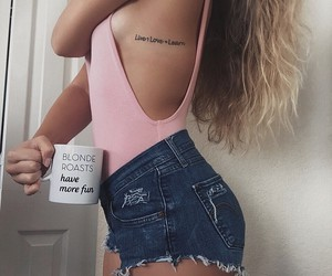 coffee, fashion, and ripped image
