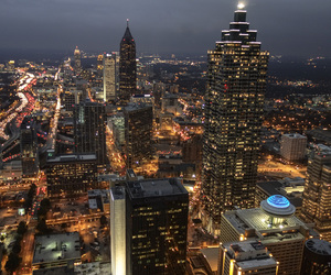 atlanta, city night, and picture image