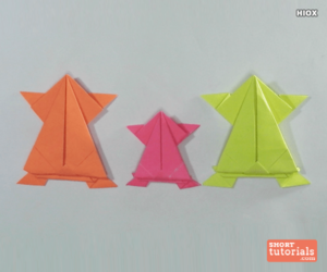 origami, shorttutorials, and paper frog image