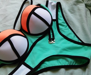 swimsuit, triangle, and obsessed image