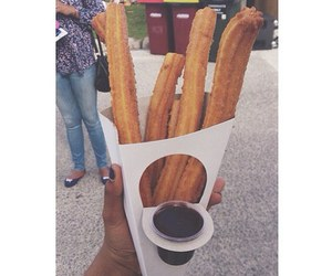 chocolate, churros, and delicious image