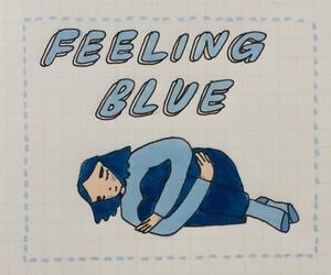 blue, grunge, and sad image
