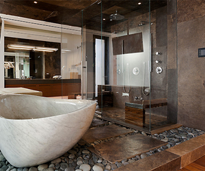 bathtube, home, and luxury image
