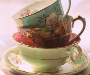 alice in wonderland, antique, and tea party image
