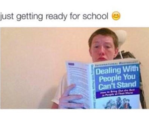 school, funny, and people image