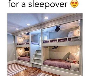 room, sleepover, and bed image