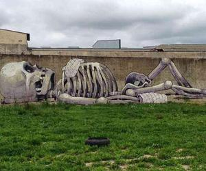art, graffity, and skeleton image