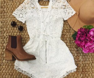 playsuits, jumpsuits, and white romper image