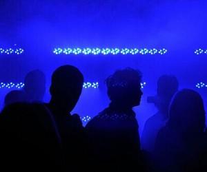 blue, glow, and grunge image