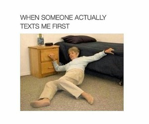 lol, texting, and true shit image