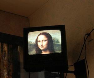 art, tv, and mona lisa image