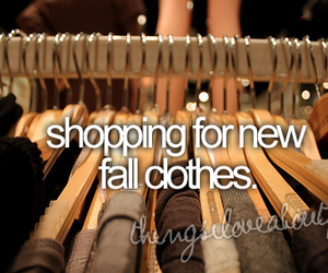 fall, shopping, and clothes image