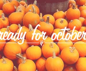 october, pumpkin, and autumn image
