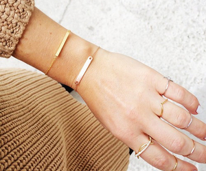 fashion, rings, and bracelet image