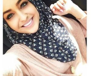 hijab, smile, and sun image