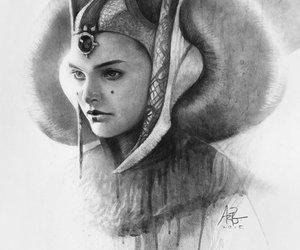 star wars, queen amidala, and art image