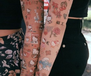 hello kitty and tattoo image