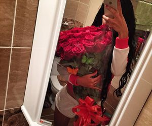 gift, hair, and rose image