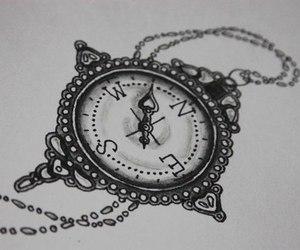 tattoo, compass, and idea image