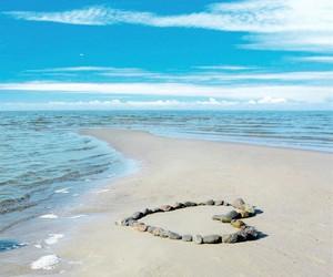 plage, zen, and cœur image