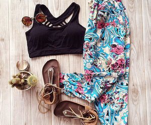 accessories, outfit, and patterned image