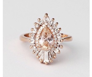 diamonds, engagement ring, and rose gold image