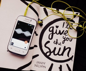 book, earphones, and music image