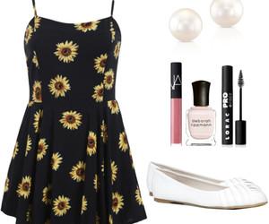 black, daisy, and dress image