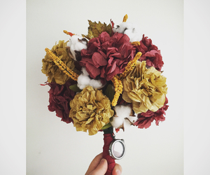 bouquet, fall, and flowers image