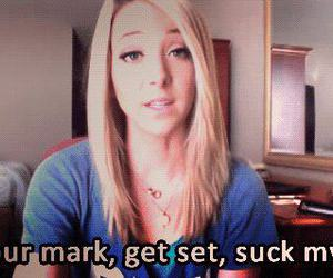 blonde, jenna marbles, and dick image