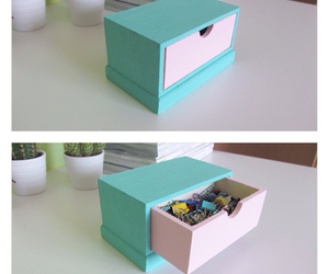 desk, diy, and girly image