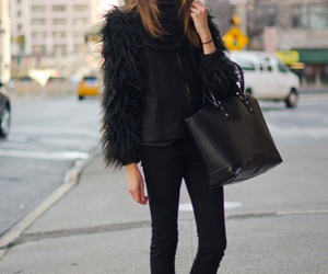 black, black clothes, and blogger image