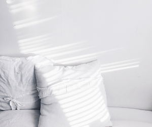 pillow, white, and bed image