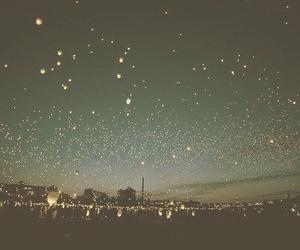 night, light, and stars image