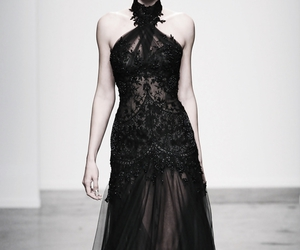 dress, black, and gothic image