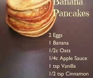 pancakes, healthy, and banana image