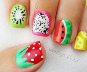 fruit and nails image