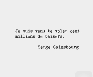 french, serge gainsbourg, and love image