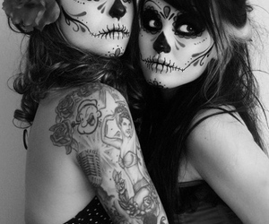 tattoo, skull, and Halloween image