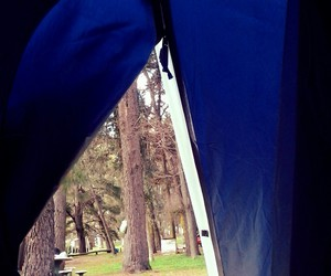 camping, tend, and forest image