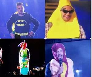banana, batman, and concert image
