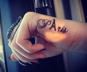 paris, tattoo, and nails image